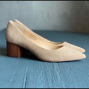 Sole society suede chunky heeled shoe